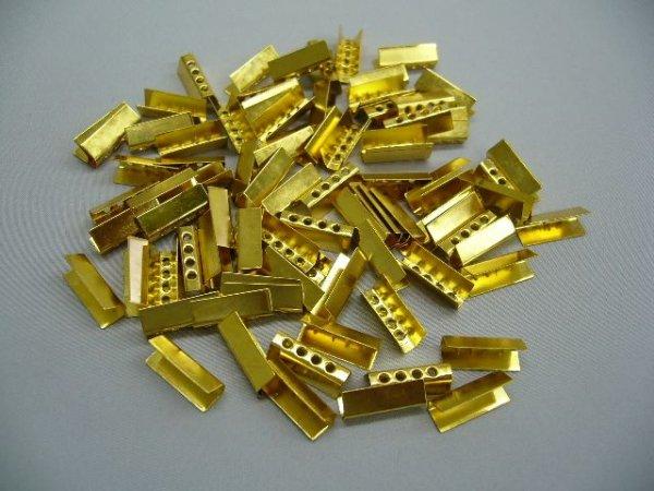 画像1: 金属セル・ゴールド色(100個入)