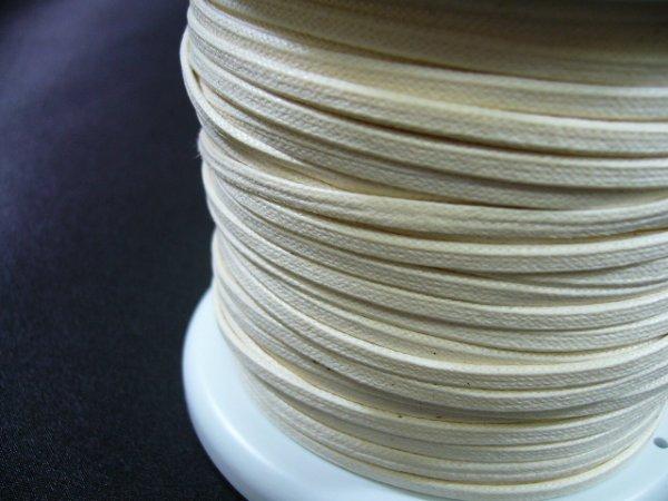 画像2: NYロービキ 平紐 ・3ミリ (2)生成り 約50Mボビン巻