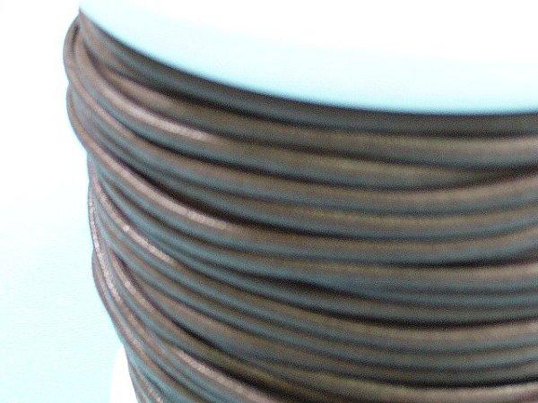 画像1: NYロービキ丸紐・2ミリ (7)濃茶 カット売り