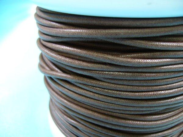 画像1: NYロービキ丸紐・2ミリ (6)茶 カット売り