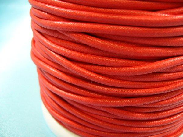画像1: NYロービキ丸紐・2ミリ (15)赤 カット売り