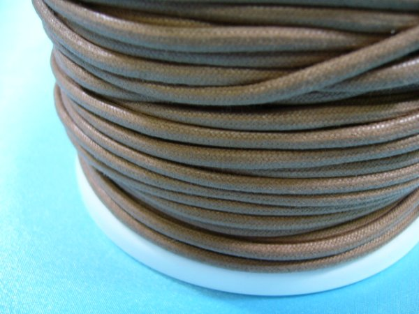 画像1: NYロービキ丸紐・2、5ミリ (5)ベージュ カット売り