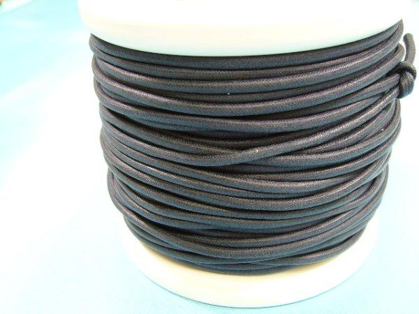 画像1: NYロービキ丸紐・2、5ミリ (29)紺 カット売り