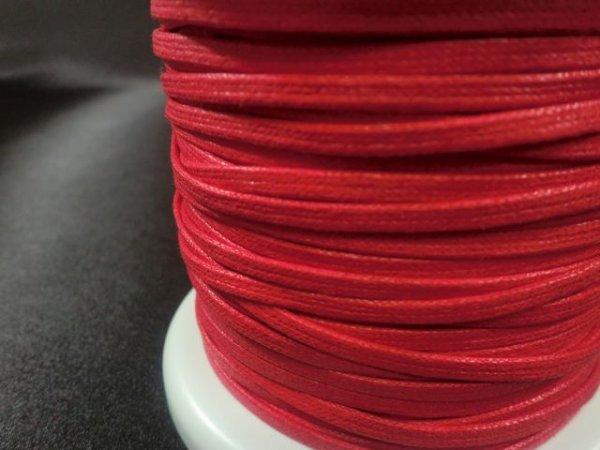 画像2: NYロービキ 平紐 ・3ミリ (15)赤 約50Mボビン巻