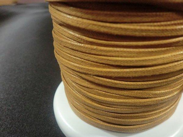 画像2: NYロービキ 平紐 ・3ミリ (4)キャメル 約50Mボビン巻