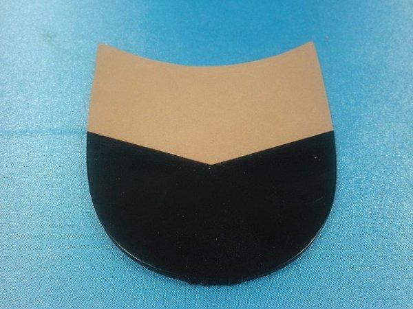 画像2: 積上げ・化粧革(山型・黒)