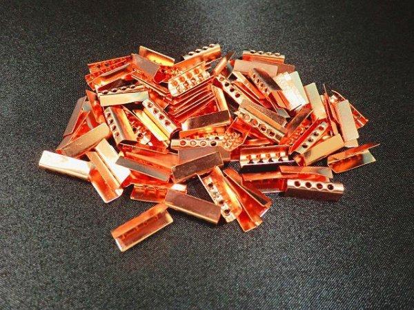 画像3: 金属セル・ピンクゴールド色(100個入)
