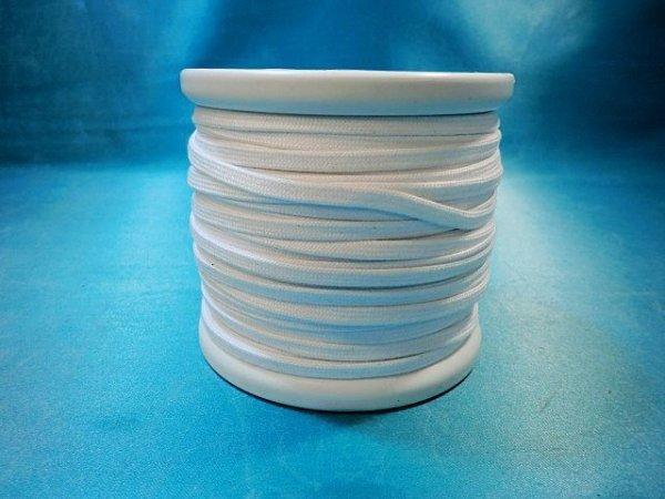 画像2: CK-540 綿平紐  (1)白 約50Mボビン巻