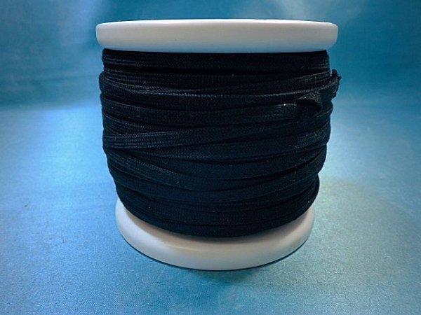 画像2: CK-540 綿平紐  (29)黒 約50Mボビン巻