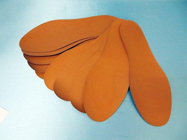 画像1: (8)合皮中敷き 紳士用 5足セット キャメル
