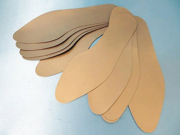 画像1: (5)合皮中敷き 婦人用 5足セット パールブロンズ