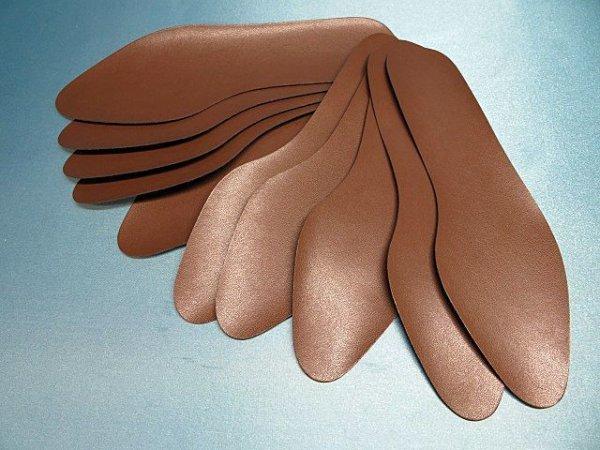 画像1: (2)合皮中敷き 婦人用 5足セット コイチャ