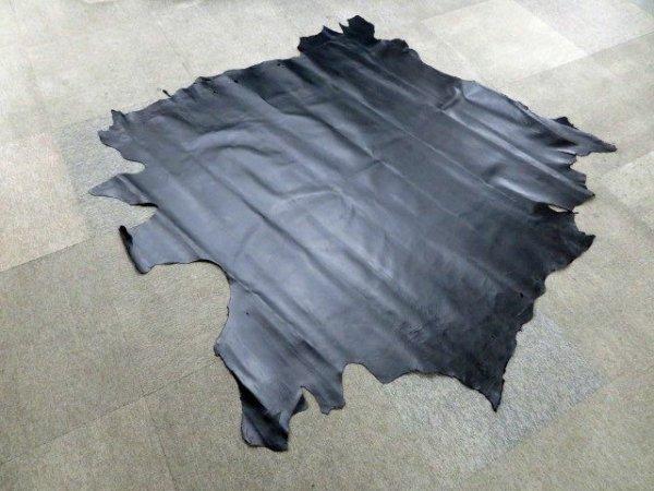 画像1: (原版) 156デシ 豚裏皮 アニリン仕上げ 黒