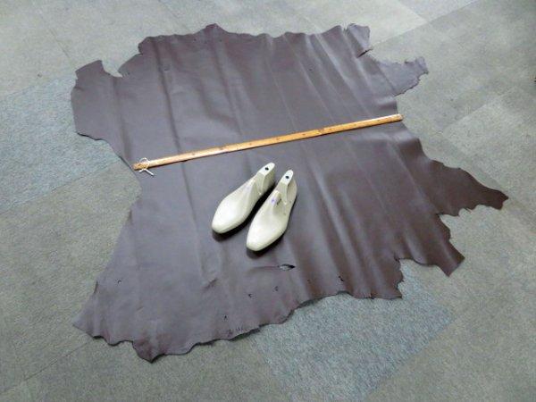 画像2: (原版) 139デシ 豚裏皮 アニリン仕上げ 濃茶(KP-5)