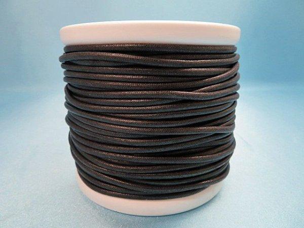 画像1: NYロービキ丸紐・3ミリ (30)黒 カット売り