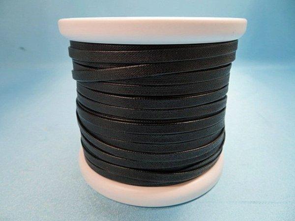 画像1: NYロービキ 平紐 ・5ミリ (30)黒 カット売り