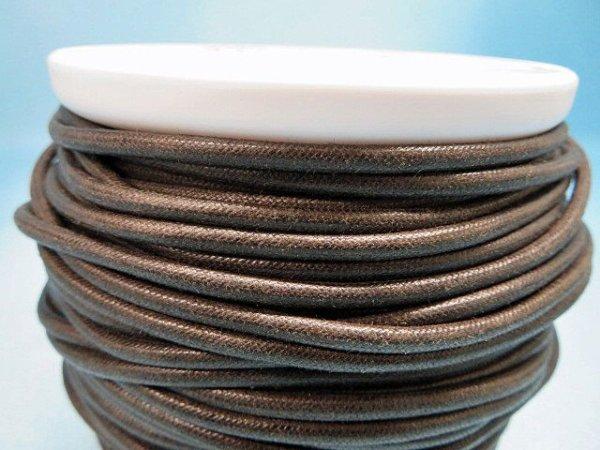 画像2: NYロービキ丸紐・3ミリ (7)濃茶 カット売り