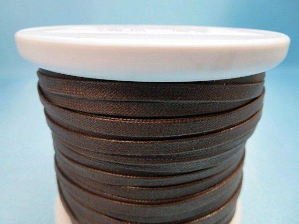 画像3: NYロービキ 平紐 ・5ミリ (7)濃茶 約50Mボビン巻