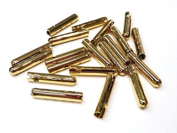 画像2: 弾丸金属セル・細(ホソ)ゴールド色(20個入)