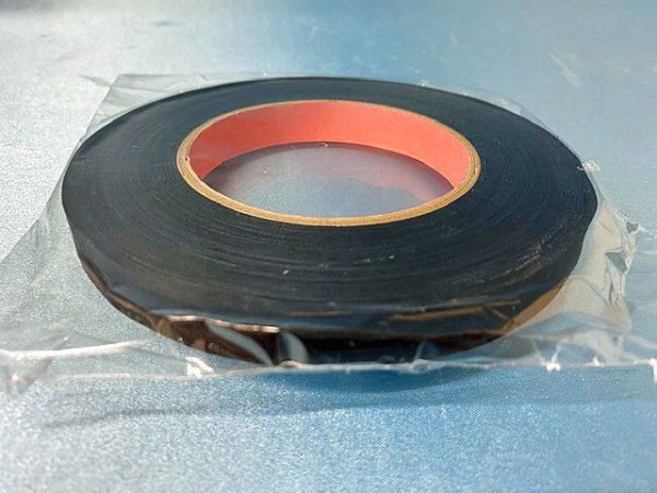 画像1: 綿テープC 12ミリ 黒