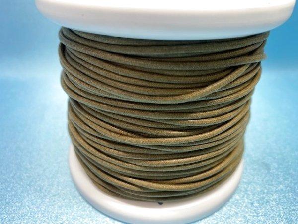 画像3: NYロービキ丸紐・2ミリ (25)カーキ 約50Mボビン巻