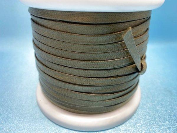 画像3: NYロービキ 平紐 ・5ミリ (25)カーキ 約50Mボビン巻