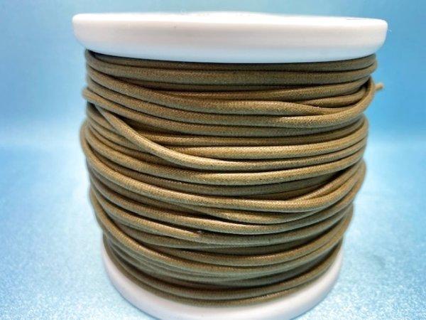 画像3: NYロービキ丸紐・2、5ミリ (25)カーキ 約50Mボビン巻